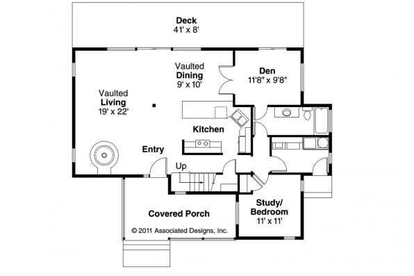 Craftsman House Plan - Elsberry 30-265 - 1st Floor Plan
