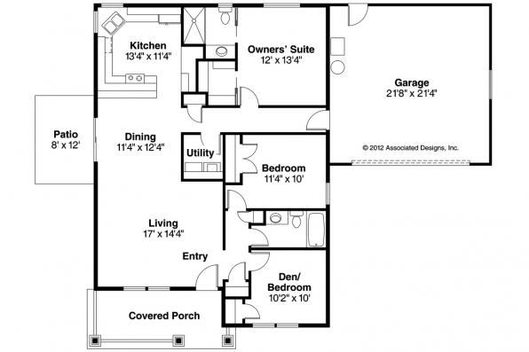 Craftsman House Plan - Elwood 30-293 - Floor Plan