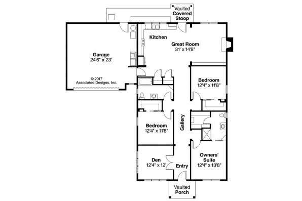 Craftsman House Plan - Evelyn 30-480 - Floor Plan