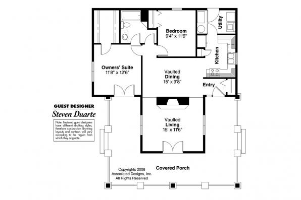 Craftsman House Plan - Fenwick 41-012 - Floor Plan