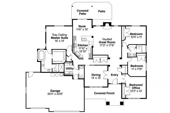 Craftsman House Plan - Goldendale 30-540 - Floor Plan