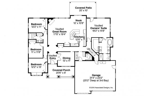 Craftsman House Plan - Grayson 30-305 - 1st Floor Plan