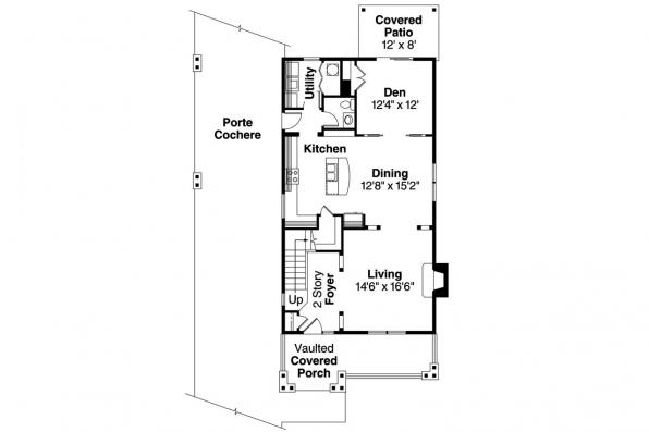 Craftsman House Plan - Grovedale 30-574 - 1st Floor Plan