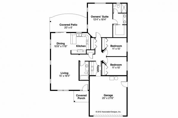 Craftsman House Plan - Harlequin 30-759 - Floor Plan