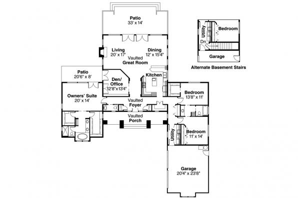 Craftsman House Plan - Heartford 10-420 - Floor Plan
