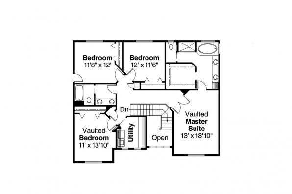 Craftsman House Plan - Masterson 30-455 - 2nd Floor Plan