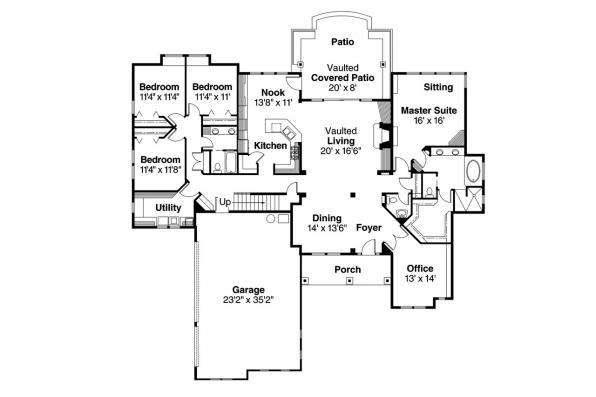 Craftsman House Plan - Radisson 30-374 - 1st Floor Plan