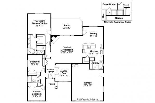 Craftsman House Plan - Ridgefield 30-696 - Floor Plan