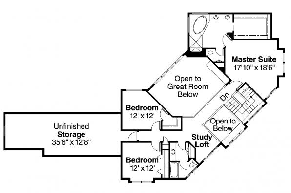 Craftsman House Plan - Rutherford 30-411 - 2nd Floor Plan