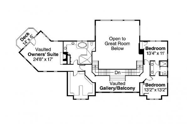 Craftsman House Plan - Summerfield 30-611 - 2nd Floor Plan