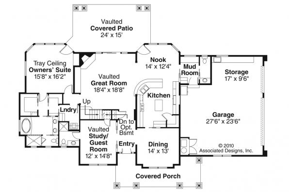Craftsman House Plan - Tillamook 30-519 - 1st Floor Plan