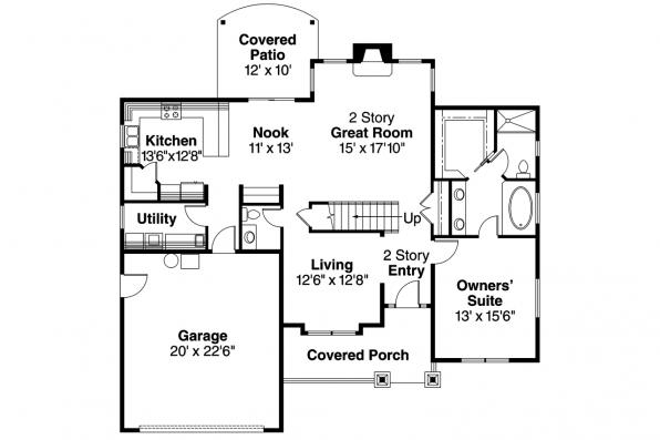 Craftsman House Plan - Westdale 30-572 - 1st Floor Plan