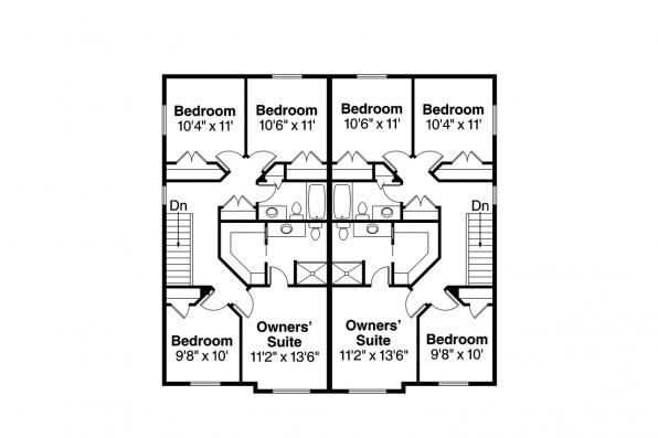 Duplex Plan - Bergen 60-026 - 2nd Floor Plan