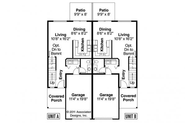 Duplex Plan - Toliver 60-020 - 1st Floor Plan
