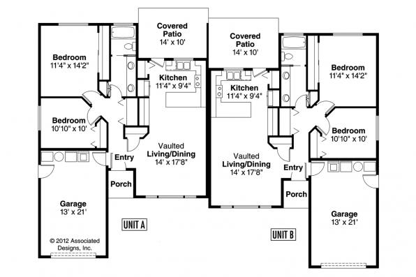 Duplex Plan - Torrington 60-010 - Floor Plan