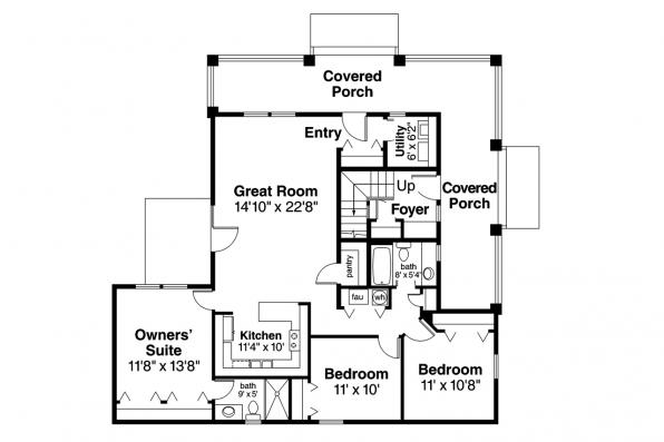 Duplex Plan - Tupelo 60-006 - 1st Floor Plan