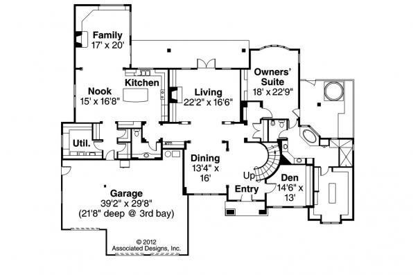 European House Plan - Avalong 30-306 - 1st Floor Plan