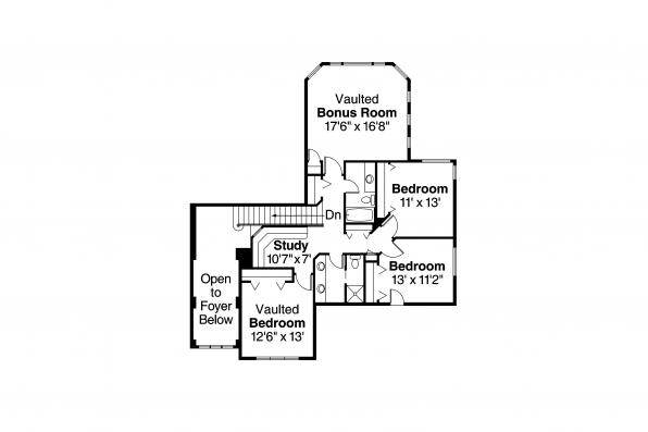 European House Plan - Balentine 30-340 - 2nd Floor Plan