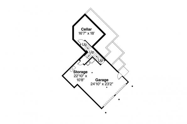 European House Plan - Delfino 31-062 - Lower Floor Plan