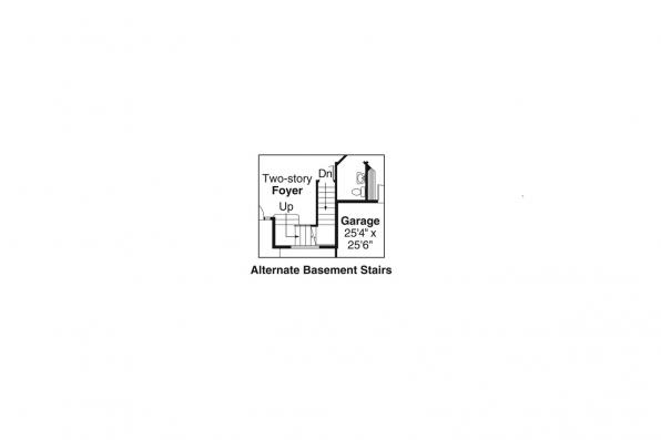 European House Plan - Edmonton 30-342 - Alternate Basement Option