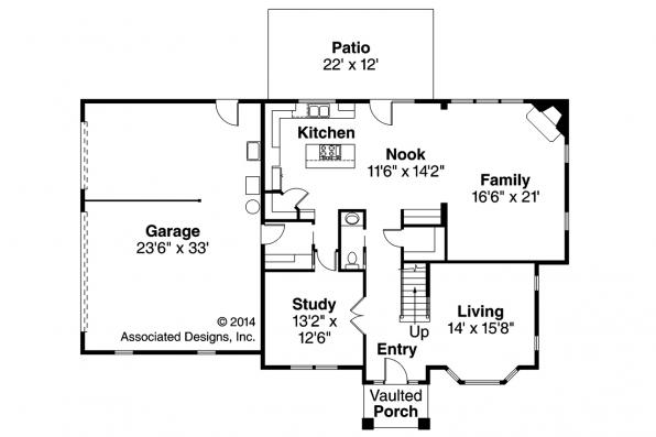 European House Plan - Gerabaldi 30-543 - 1st Floor Plan