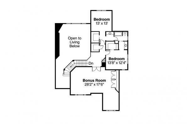 European House Plan - Hastings 30-361 - 2nd Floor Plan