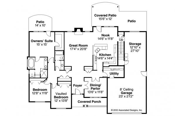 European House Plan - Littlefield 30-717 - 1st Floor Plan