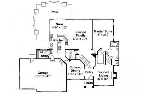 European House Plan - Manchester 10-183 - 1st Floor Plan