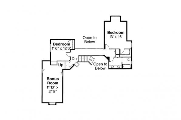 European House Plan - Manchester 10-183 - 2nd Floor Plan