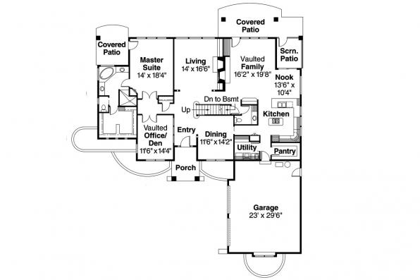 European House Plan - Marcellus 10-301 - 1st Floor Plan