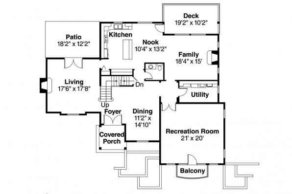 European House Plan - Marseille 30-421 - 1st Floor Plan