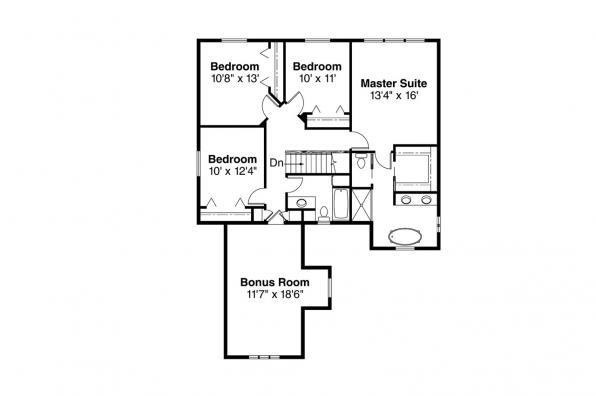 European House Plan - Mirabel 30-201 - 2nd Floor Plan