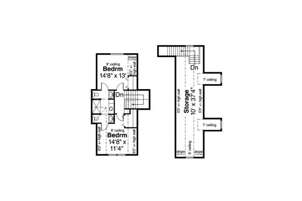European House Plan - Pronghorn 30-917 - Second Floor Plan