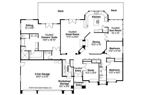 European House Plan - Stevenson 10-502 - Floor Plan