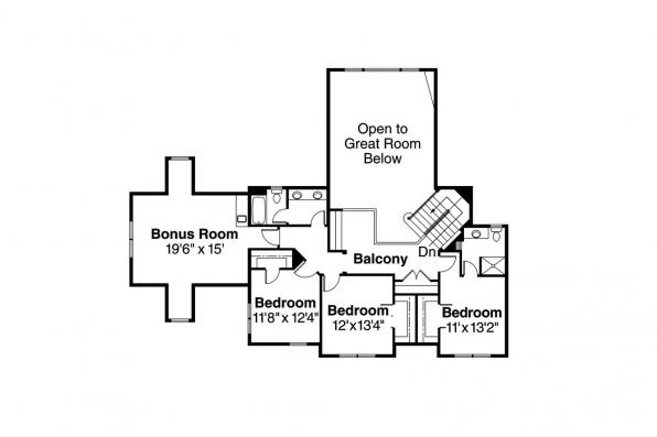 European House Plan - Westchase 30-624 - 2nd Floor Plan