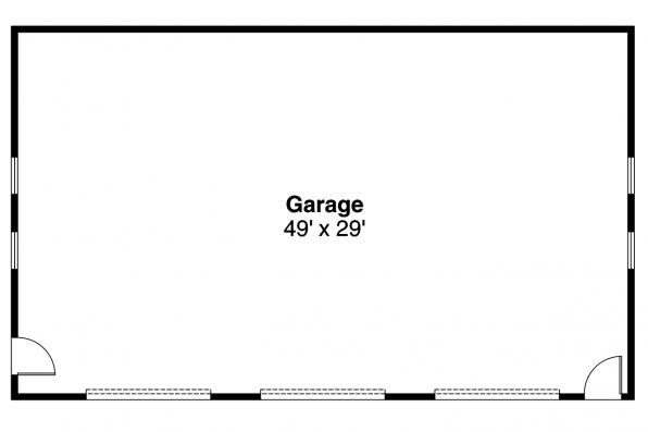 Garage Plan 20-009 - Floor Plan