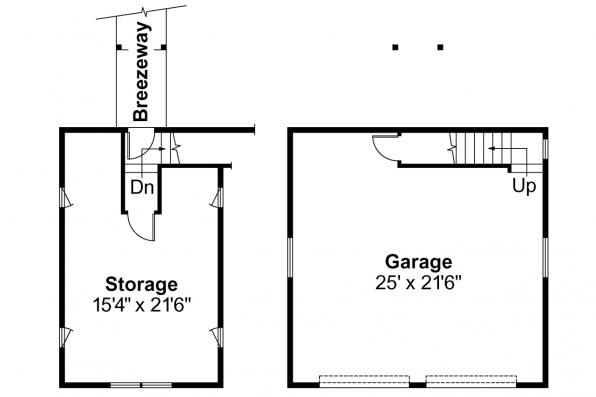 Garage Plan 20-013 - Floor Plan