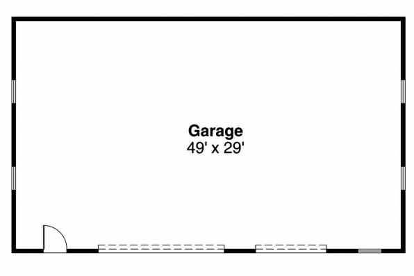 Garage Plan 20-029 - Floor Plan