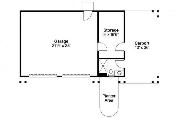 Garage Plan 20-033 - Floor Plan