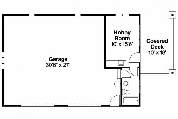 Garage Plan 20-034 - Floor Plan