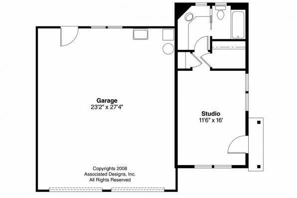 Garage Plan 20-035 - Floor Plan