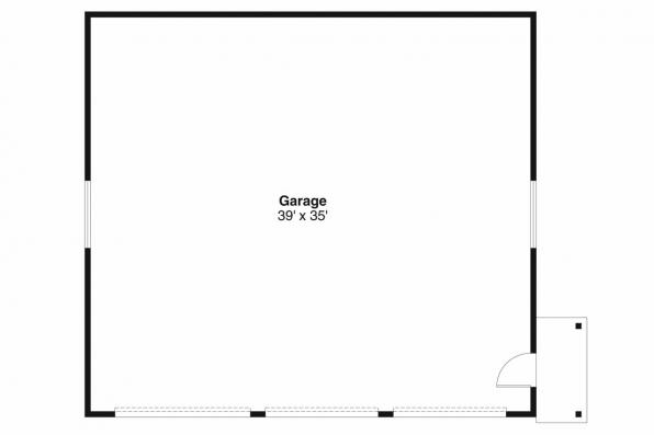 Garage Plan 20-038 - Floor Plan