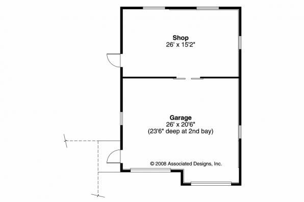 Garage Plan 20-040 - Floor Plan