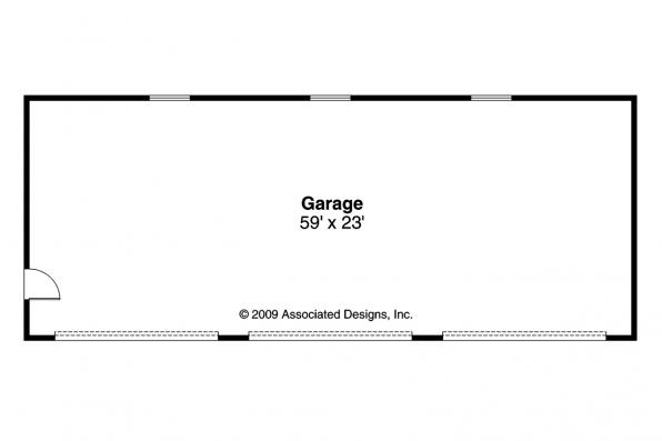 Garage Plan 20-051 - Floor Plan