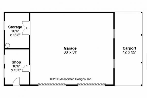 Garage Plan 20-066 - Floor Plan