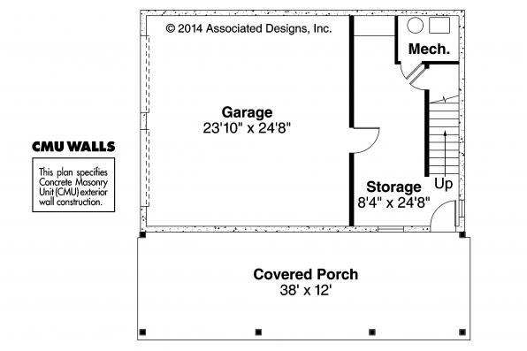 Garage Plan 20-067 - First Floor Plan
