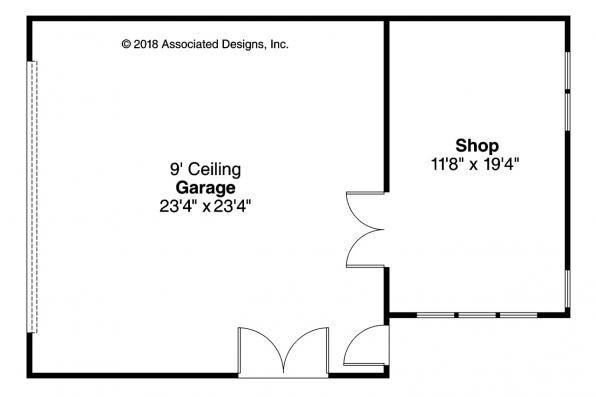 Garage Plan 20-068 Floor Plan