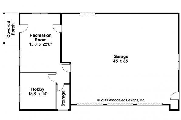 Garage Plan 20-089 - Floor Plan