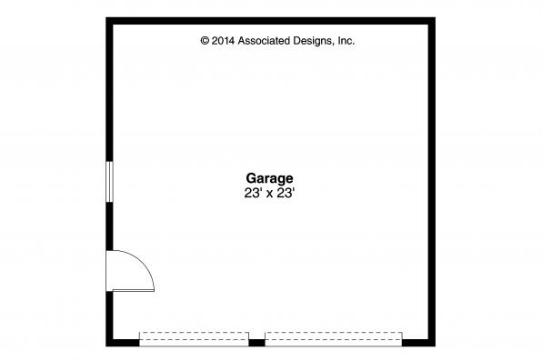 Garage Plan 20-108 - Floor Plan