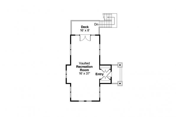 Garage Plan 20-115 - Second Floor Plan